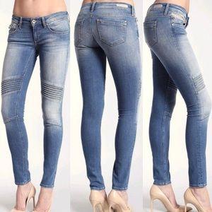 Mavi Jeans Aura Moto Biker Skinny Ankle Jeans 30